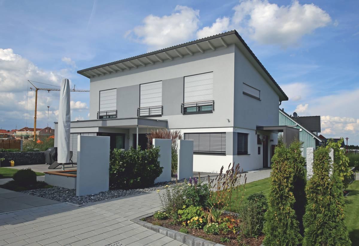 einfamilienhaus art mit pultdach und anbau m rth. Black Bedroom Furniture Sets. Home Design Ideas